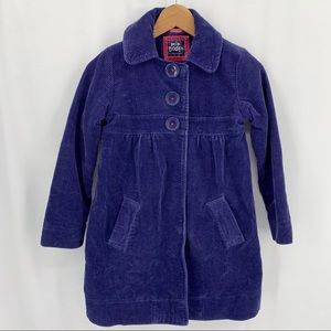 Mini Boden blue corduroy peacoat 9-10 year